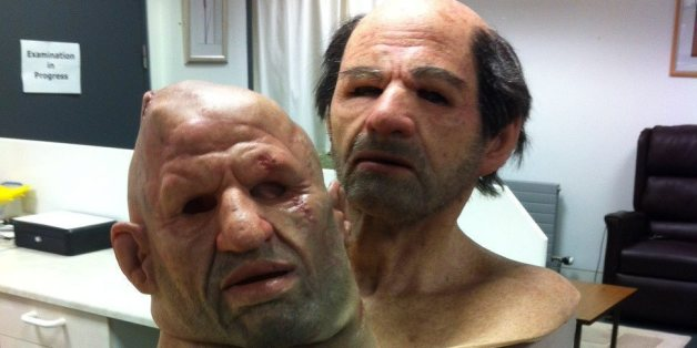 Two of the masks used by the university for training students