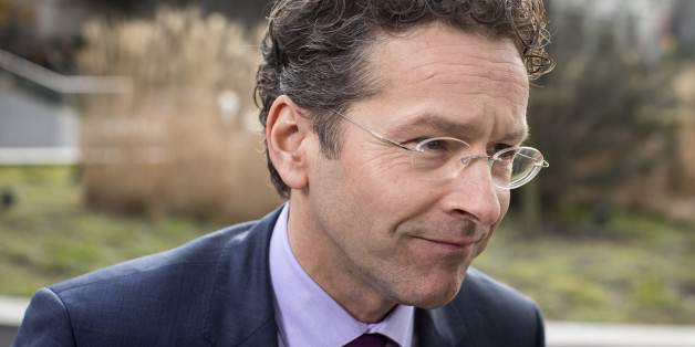 Jeroen Dijsselbloem, Dutch finance minister and president of the Eurogroup, arrives for an emergency meeting of European finance ministers in Brussels, Belgium, on Wednesday, Feb. 11, 2015. Euro-area finance ministers challenged Greece to lay out ideas for a deal with its official creditors, saying they'll listen without anticipating an immediate accord. Photographer: Jasper Juinen/Bloomberg via Getty Images