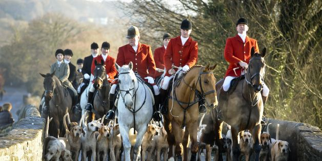 Riders meet for the Avon Vale Boxing Day Hunt on December 26, 2014 in Lacock, England. Boxing Day is traditionally the biggest event in the hunt calendar and despite 10 years having passed since the Hunting Act effectively outlawed fox hunting, the day reportedly drew tens of thousands of supporters to meets across the country