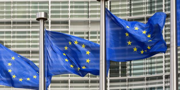 European Union flags outside Brussels