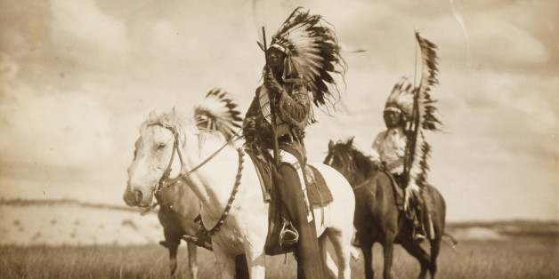 UNITED STATES - CIRCA 1905:  Three Sioux Chiefs  (Photo by Edward S Curtis/Buyenlarge/Getty Images)