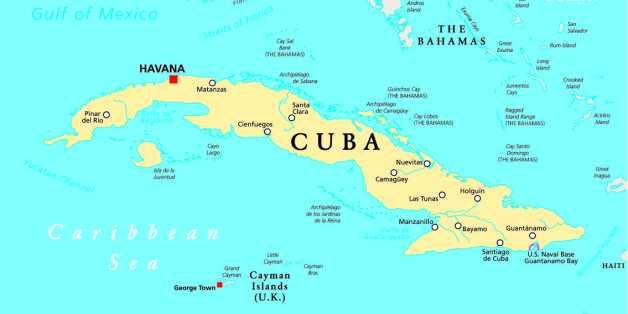 US Takes A Positive Negative Approach To Trade With Cuban - Us and cuba map