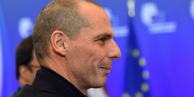 Greece's Finance Minister Yanis Varoufakis arrives to take part in a European economic and financial affairs (ECOFIN) meeting at the European Council in Brussels, on February 17, 2015. AFP PHOTO/Emmanuel Dunand        (Photo credit should read EMMANUEL DUNAND/AFP/Getty Images)