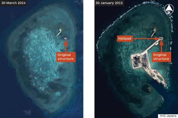 Beijing Constructs Chain Of Artificial Island Fortresses In Disputed Region Of South China Sea