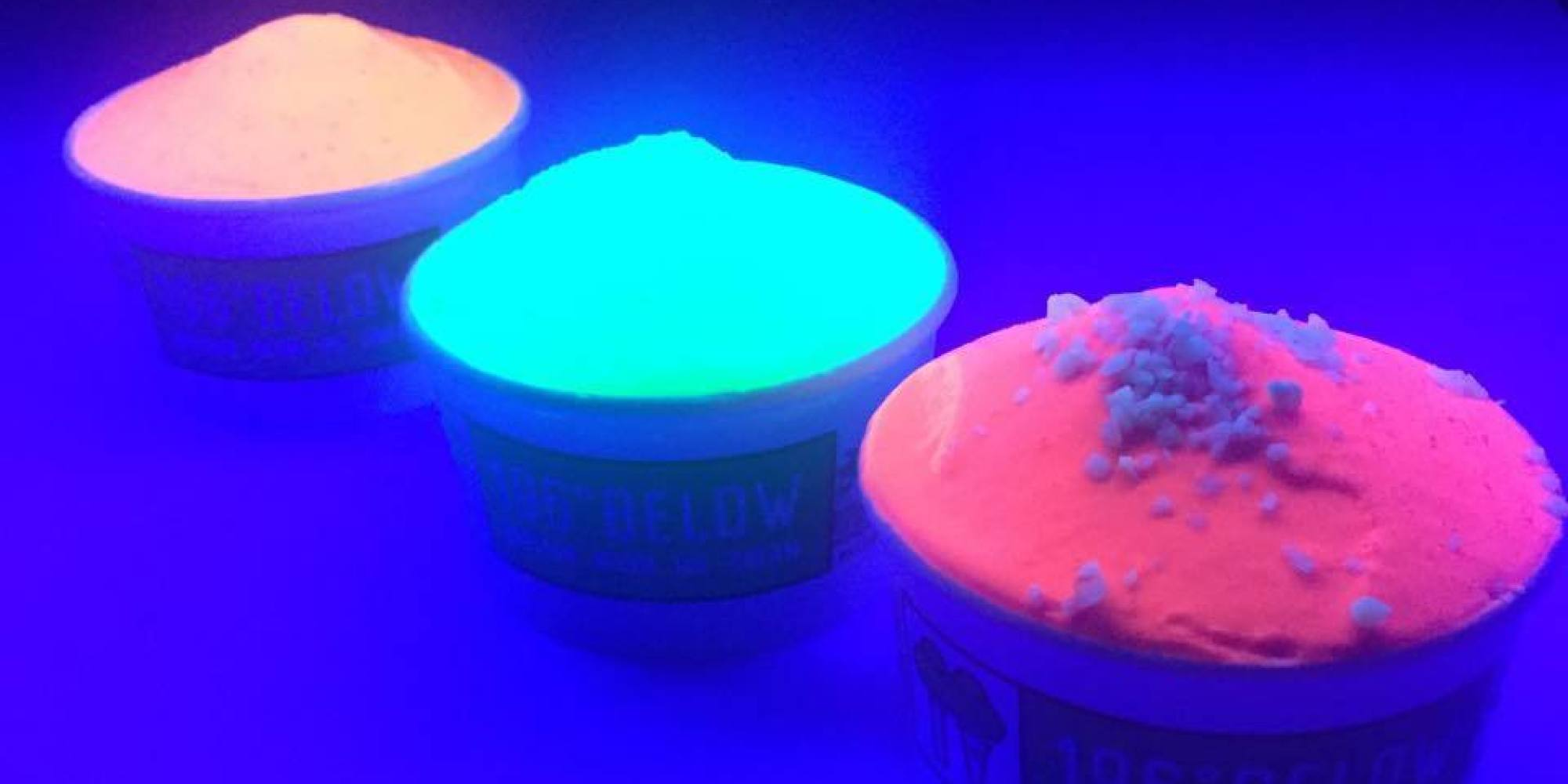 This Glow In The Dark Ice Cream Was Inspired By A Rave HuffPost