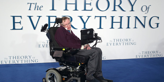LONDON, ENGLAND - DECEMBER 09:  Professor Stephen Hawking attends the UK Premiere of 'The Theory Of Everything' at Odeon Leicester Square on December 9, 2014 in London, England.  (Photo by Mike Marsland/WireImage)