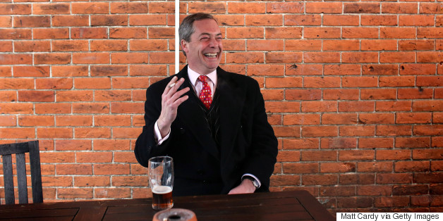 nigel farage pint cigarette
