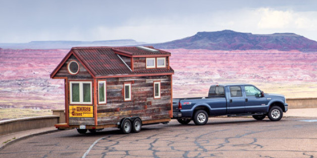 Tiny House Giant Journey Couple Quits Day Jobs  Builds Quaint Home On Wheels To Travel