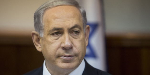 Israeli Prime Minister Benjamin Netanyahu attends the weekly cabinet meeting in his Jerusalem office, Sunday, Feb. 8, 2015. (AP Photo/Sebastian Scheiner, Pool)