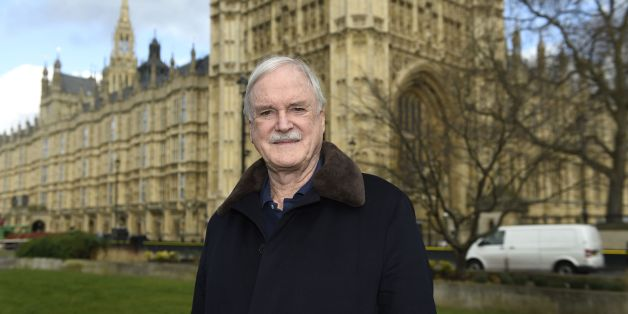 Actor and comedian John Cleese poses for a photograph on College Green outside the Houses of Parliament after he joined the group 'Hacked Off'.