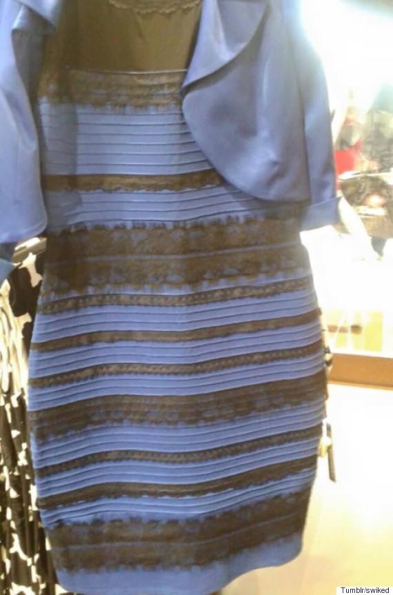 「みんな、お願いだから教えて欲しい。このドレスの色は『白と金』、それとも『青と黒』?私と友人は全く意見が合わなくて、大パニックになっちゃった」