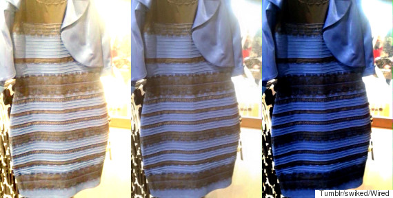 the dress blue and black