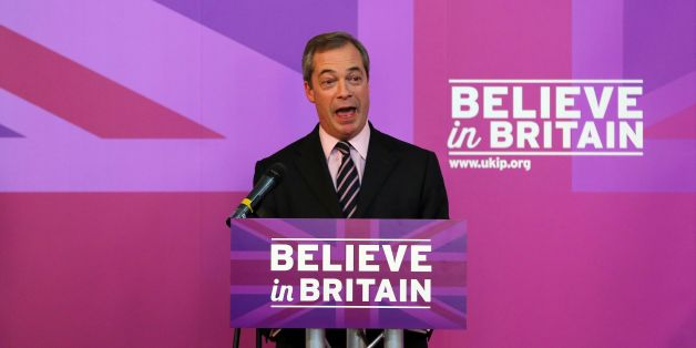 Ukip leader Nigel Farage delivers a speech at Rochester Corn Exchange in Kent, after Mr Farage insisted that the NHS will be completely free at the point of access for British citizens as he outlined Ukip's plan to invest an extra £3 billion a year in the health service.