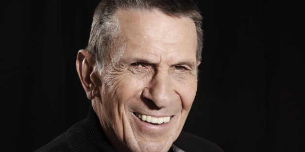 """FILE - In this April 26, 2009 file photo, actor Leonard Nimoy poses for a portrait in Beverly Hills, Calif.  Nimoy, famous for playing officer Mr. Spock in """"Star Trek"""" died Friday, Feb. 27, 2015 in Los Angeles of end-stage chronic obstructive pulmonary disease. He was 83. (AP Photo/Matt Sayles, File)"""