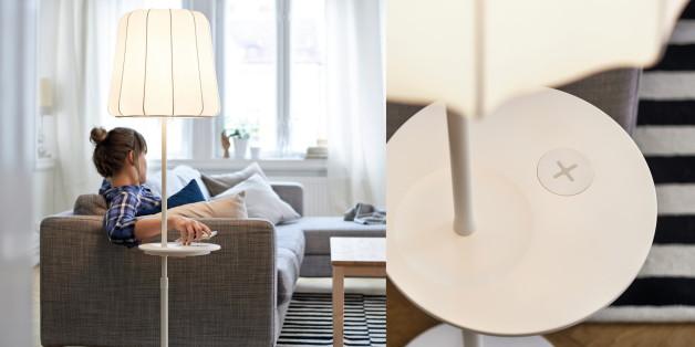 handys einfach aufladen ikea baut drahtlose ladestationen in m bel ein huffpost deutschland. Black Bedroom Furniture Sets. Home Design Ideas