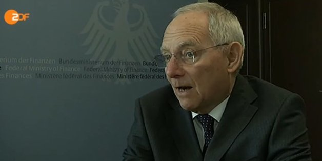 "Bundesfinanzminister Wolfgang Schäuble im ZDF: ""Bin fassungslos"""