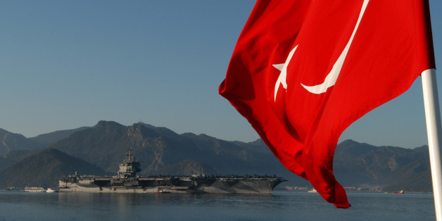 MARMARIS, Turkey (Feb. 9, 2011) The aircraft carrier USS Enterprise (CVN 65) arrives in Marmaris, Turkey for a port visit. Enterprise is deployed as part of the Enterprise Carrier Strike Group supporting maritime security operations and theater security cooperation efforts in the U.S. 5th and 6th Fleet areas of responsibility. (U.S. Navy photo by Mass Communication Specialist 1st Class Elizabeth L. Burke/Released)