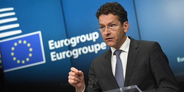Eurogroup President and Dutch Finance Minister Jeroen Dijsselbloem gives a press conference on February 16, 2015 at the end of an Eurogroup finance ministers meeting at the European Council in Brussels.          AFP PHOTO / EMMANUEL DUNAND        (Photo credit should read EMMANUEL DUNAND/AFP/Getty Images)