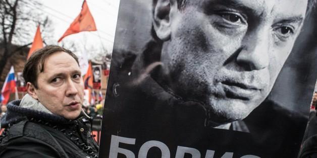 Trauernde gestern in Moskau