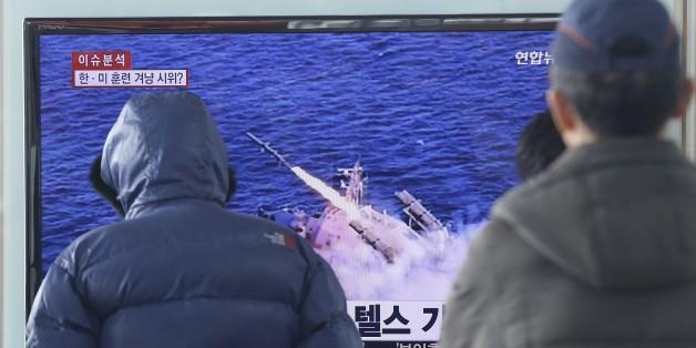 Nordkorea hat am Wochenende zwei Kurzstreckenraketen abgefeuert (Archivbild)