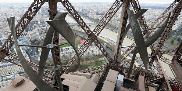 Der Eiffelturm wird zu einem Windkraftwerk