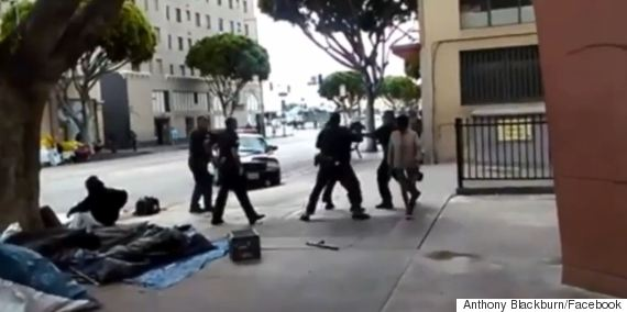 lapd shooting la skid row