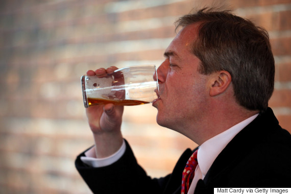 nigel farage beer