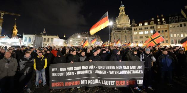 Pegida-Kundgebung gestern in Dresden