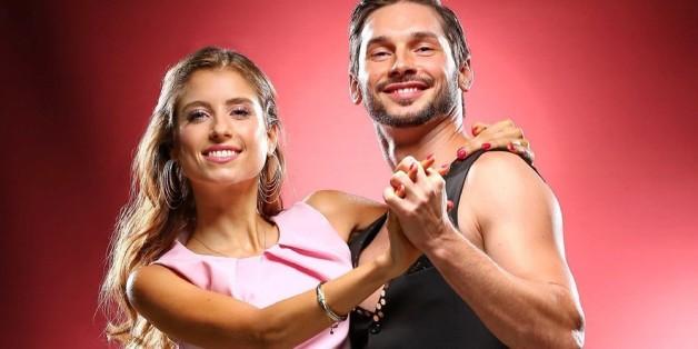 Cathy Fischer mit ihrem professionellen Tanzpartner Marius Iepure