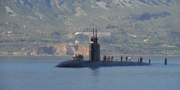 110325-N-QL533-001SOUDA BAY, Greece (March 25, 2011) The Los Angeles-class submarine USS Scranton (SSN 756) arrives at Naval Support Activity Souda Bay for a port visit. (U.S. Navy photo by Mass Communication Specialist 3rd Class Cayman Santoro