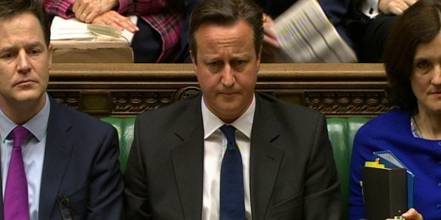 Prime Minister David Cameron during Prime Minister's Questions in the House of Commons, London.