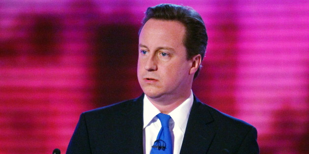 David Cameron participates in the final of three live televised debates, at the University of Birmingham, in Birmingham, central England on April 29, 2010