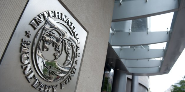 The logo of the International Monetary Fund (IMF) at the organization's headquarters in Washington, DC, May 16, 2011. The organization's director, Dominique Strauss-Kahn, faced arraignment in New York earlier Monday on allegations of sexual assault. AFP PHOTO / Saul LOEB (Photo credit should read SAUL LOEB/AFP/Getty Images)