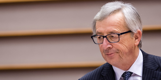 European Commission President Jean-Claude Juncker talks during a plenary session at the European Parliament in Brussels on Wednesday, Feb. 25, 2015. (AP Photo/Geert Vanden Wijngaert)