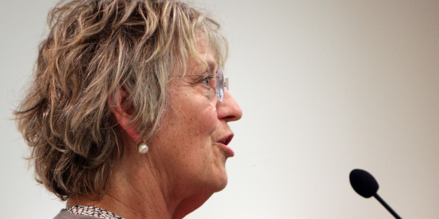 Germaine Greer addresses her audience during a media call at the NSW Teachers Federation Conference Centre on March 13, 2008 in Sydney, Australia. (Photo by Don Arnold/WireImage)