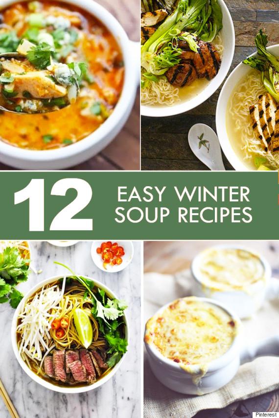 easy winter soups pinterest