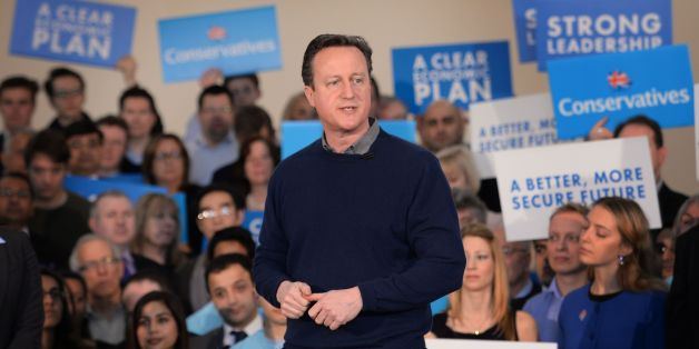 Prime Minister David Cameron addresses supporters and meets party members at a campaign event at the Dhamecha Lohana Centre in Harrow, north London.