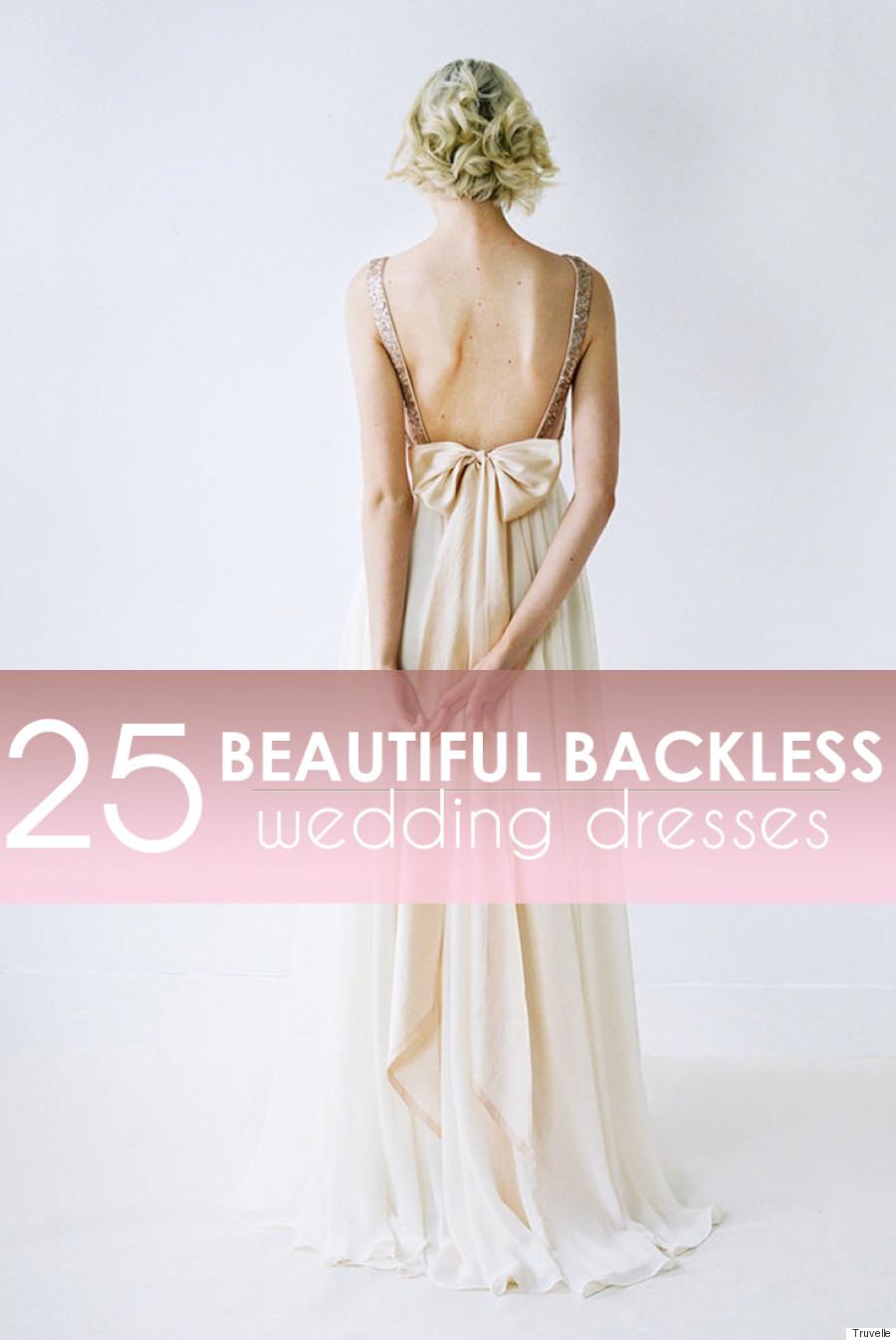 backless wedding dresses