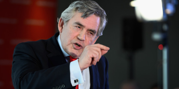 EDINBURGH, SCOTLAND - FEBRUARY 02:  Former UK Prime Minister Gordon Brown joins Scottish Labour leader Jim Murphy as they outlined their  welfare powers for Scotland on February 2, 2015 in Edinburgh,Scotland. They announced in an address to Labour partry supporters that they would build upon the vow which was signed by the main Westminster parties two days before the Scottish independence referendum.  (Photo by Jeff J Mitchell/Getty Images)