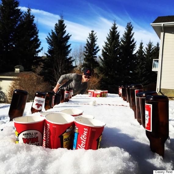 tim hortons beer pong