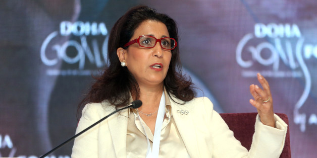 "Moroccan former runner Nawal El Moutawakel speaks during the Doha Goals Forum.Picture by Mohan<a href=""http://www.dohastadiumplusqatar.com"" rel=""nofollow"">www.dohastadiumplusqatar.com</a>"