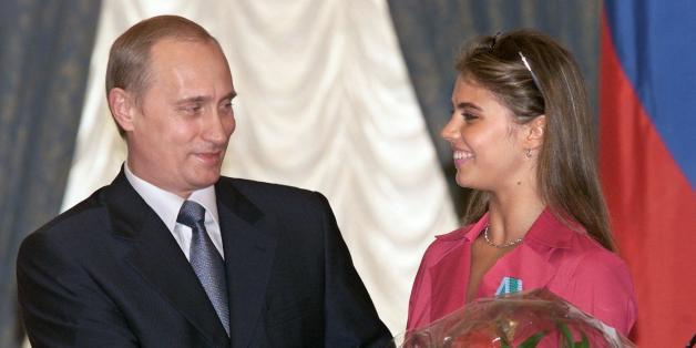 Rencontre entre le président Vladimir Poutine et la gymnaste Alina Kabayeva en 2001