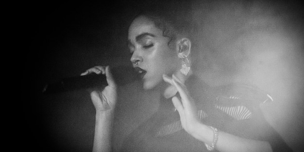 BERLIN, GERMANY - MARCH 06:  (EDITORS NOTE: Image converted to Black and White) FKA Twigs performs live on stage during a concert at Astra on March 6, 2015 in Berlin, Germany.  (Photo by Stefan Hoederath/Redferns via Getty Images)