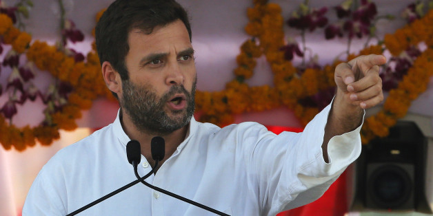 India's Congress party vice president and scion of the Nehru-Gandhi family, Rahul Gandhi speaks during an election campaign rally in Thane, on the outskirts of Mumbai, India, Thursday, March 6, 2014. India's general election will start April 7. (AP Photo/Rajanish Kakade)