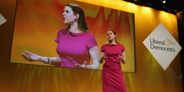 LIVERPOOL, ENGLAND - MARCH 14:  Jo Swinson MP, Under Secretary of State for Women and Equalities, delivers her keynote speech to delegates during party's spring conference at the ACC on March 14, 2015 in Liverpool, England. Deputy Prime Minister Nick Clegg confirmed today that Mental health services in England will receive £1.25bn in next week's Budget.  (Photo by Christopher Furlong/Getty Images)