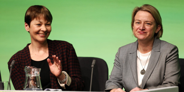 Green MP  for Brighton Pavilion, Caroline Lucas  and Leader, Natalie Bennett  at the Green Party Conference in Liverpool.