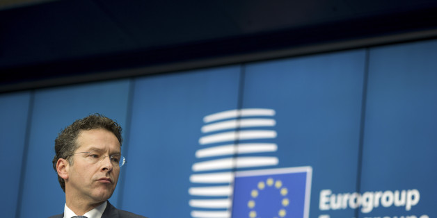 Jeroen Dijsselbloem, Dutch finance minister and president of the Eurogroup, pauses during a news conference following meeting of European finance ministers in Brussels, Belgium, on Monday, March 9, 2015. Greece will resume talks with its creditors this week after euro-area finance ministers demanded urgent action to avert an impending cash crunch. Photographer: Jasper Juinen/Bloomberg via Getty Images