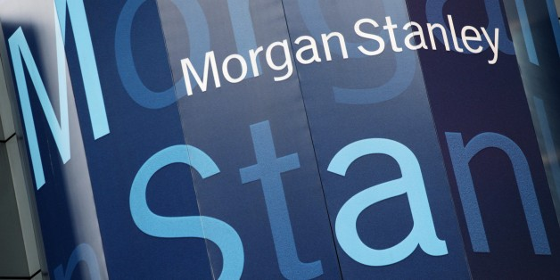 FILE - In this Oct. 18, 2011, file photo, the Morgan Stanley logo is displayed on its Times Square building. Morgan Stanley has agreed to pay $2.6 billion to settle federal charges over its role in the mortgage bubble and subsequent financial crisis. (AP Photo/Mark Lennihan, File)