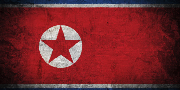 Grunge Flag of North Korea