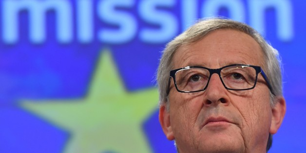 European Commission President Jean-Claude Juncker gives a press conference at the end of German chancellor's visit to the European Commission at the European Commission headquarters in Brussels, on March 4, 2015.  AFP PHOTO/Emmanuel Dunand        (Photo credit should read EMMANUEL DUNAND/AFP/Getty Images)